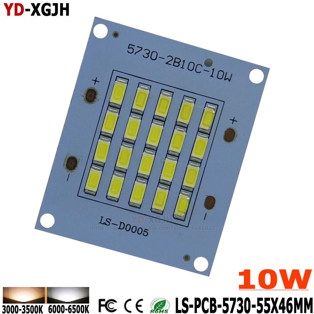 2pcs/lot  10W SMD5730 Led Lighting DC30-48V LED Pcb Floodlight Pcb Aluminum Lamp Plate  Source Panel For Outdoor Lamp