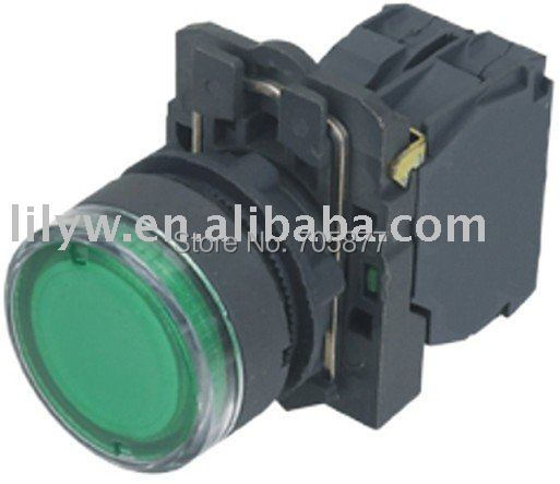 illuminated push button switch with LED