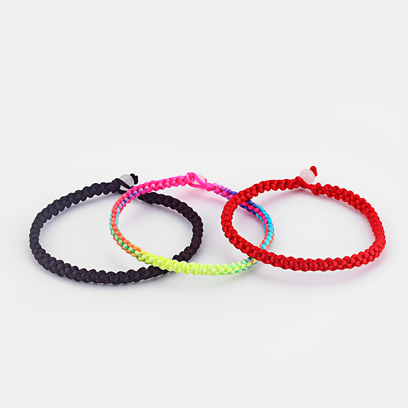 10pcs Handmade Red/Brown/Colored Simple Lucky Friendship Surfer Bracelet&Bangle for Fashion Men&Women Bangle Jewelry Bijoux