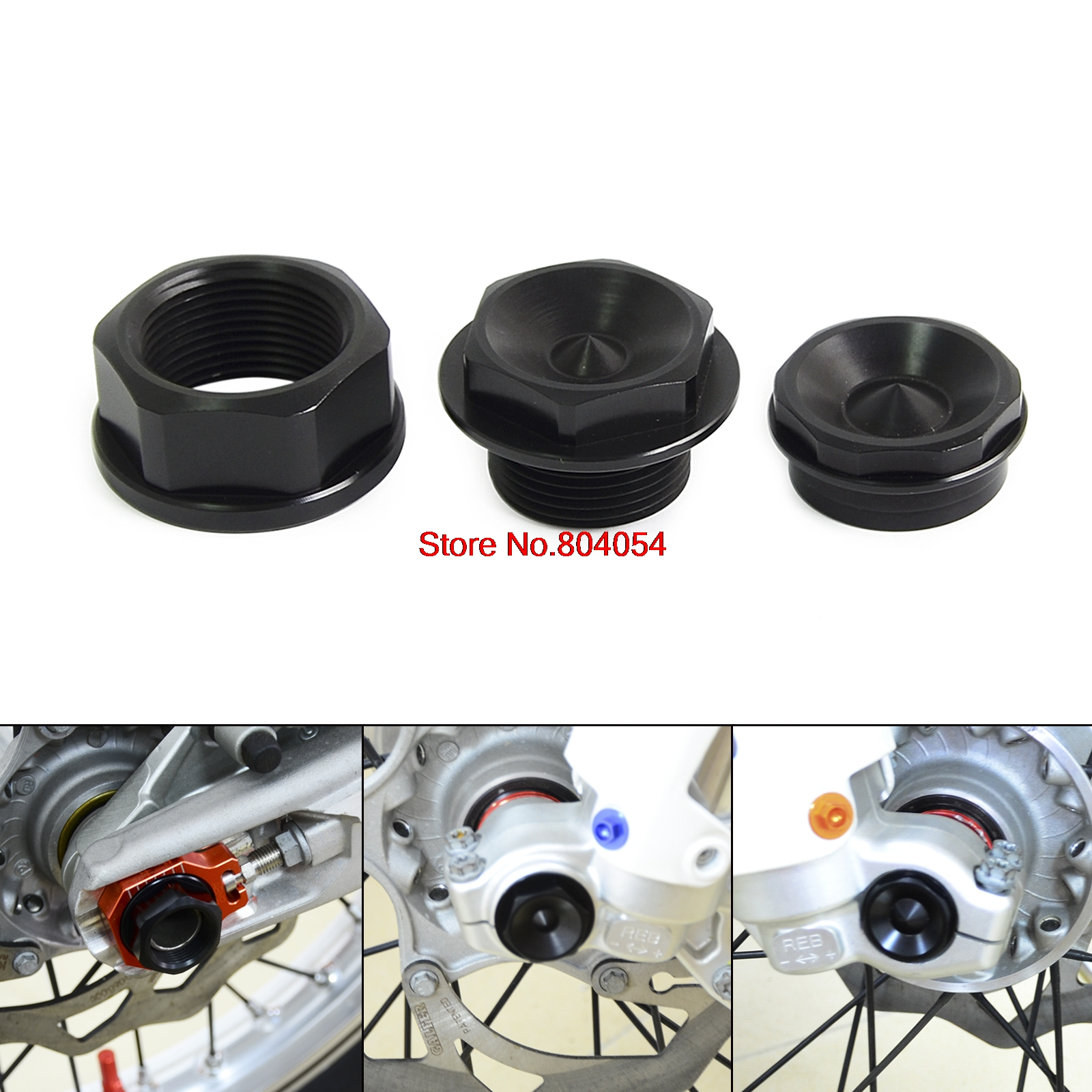 ФОТО Front Left & Right Wheel Spindle Collar Screw Bolt Kit for KTM 125 144 150 200 250 300 350 SX SXS XC EXC XCW XCF SXF EXCF XCFW