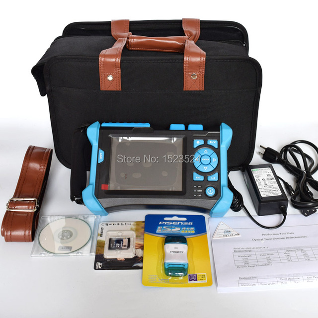 32/30dB SM 1310/1550nm OTDR Optical Time Domain Reflectometer Fiber Optic OTDR with Built-in VFL Touch Screen