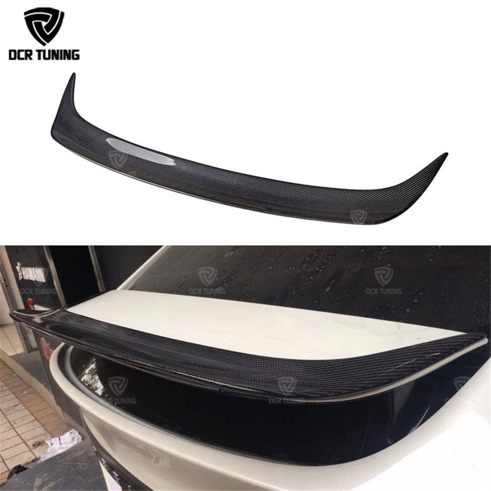 Modello di Auto In Fibra di carbonio Posteriore del Tronco Spoiler Per Tesla X Carbon Ali di Finitura Tronco di avvio lucido 2016-UP