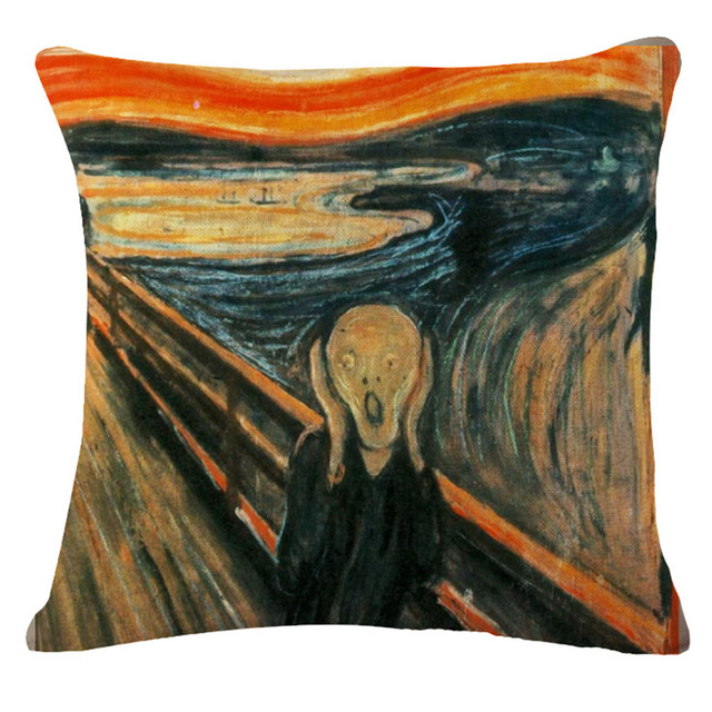 "Capa de almofada quadrado 18 ""mona lisa sorriso mundialmente famoso pintura arte renascentista pintura a óleo capa de almofada michelangelo sistina"