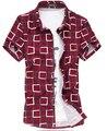 Chemise Homme Summer High Quality Plaid Shirts Mercerized Cotton Short Sleeve Shirt ,men Plus Size M- 7xl , 7xl=us 4xl,g0437
