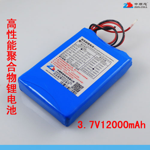 In the 12000mAh 3.7V core polymer lithium battery 12AH emergency power backup LED xenon light Rechargeable Li-ion Cell bow 929054