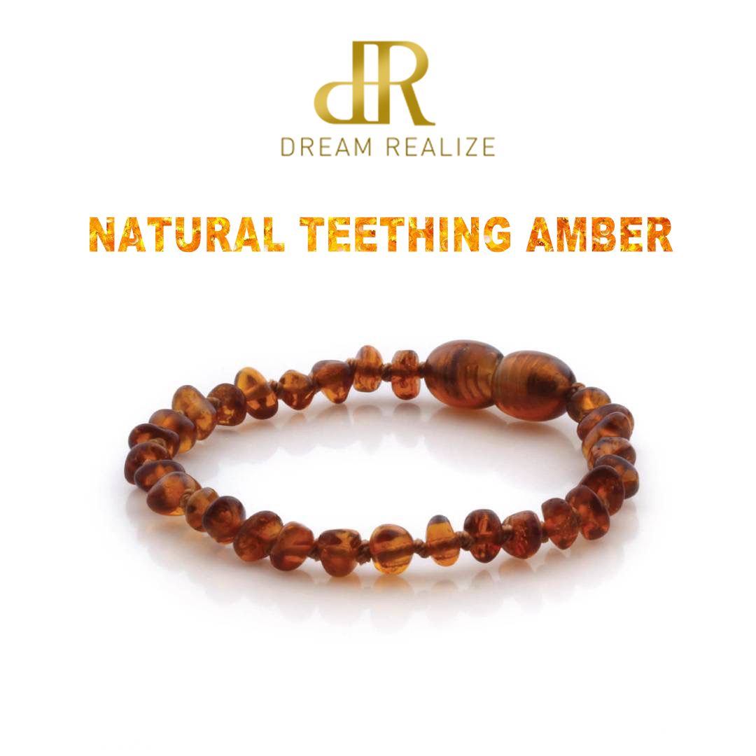 Amber Teething Bracelet For Baby Natural Baltic Ambar