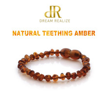 Original Amber Teething Bracelet for Baby Natural Baltic Ambar Jewelry for Adult Women Bracelets Anklets Colar 12-50cm Handmade(China)