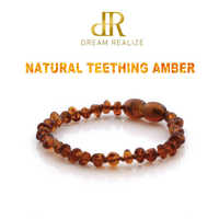 Original Amber Teething Bracelet for Baby Natural Baltic Ambar Jewelry for Adult Women Bracelets Anklets Colar 12-50cm Handmade