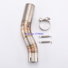 ID 45mm GSXR1000 2006 Motorcycle Link Pipe Stainless Steel Motorbike Exhaust Muffler Pipe Connector Pipe for