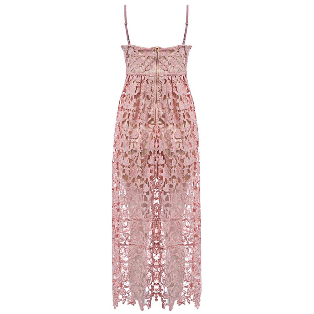 VESTLINDA Spaghetti Strap Backless Hollow Out Crochet Lace Dress Women Vestidos Mujer Robe Femme 2017 Summer Sexy Maxi Dress 7