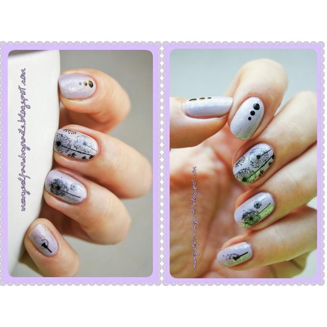 2 Patterns/Sheet Flying Dandelion Nail Art Water Decals Transfer Sticker BORN PRETTY BP-W13