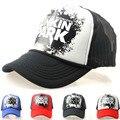 2016 chapéus NOVOS venda quente Linkin park letras impressas primavera/verão Malha cap net para Net chapéu homens & mulheres Rua hip hop hiphop caps
