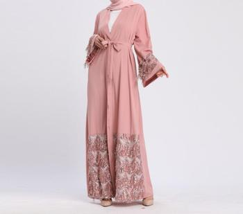Women 2020 Kaftan Abaya Sequin Muslim Dress Luxury Seuqins Robe Gamis Dubai Caftan Marocain Jilbab Qatar Turkish IClothing цена 2017