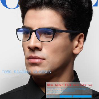 Iboode okulary w podeszłym wieku okulary blokujące niebieskie światło okulary do czytania TR90 rodzice mężczyźni kobiety okulary korekcyjne okulary korekcyjne okulary gogle nowe tanie i dobre opinie Unisex Przezroczysty CN (pochodzenie) Lustro Z poliwęglanu 5 9cm Tytanu Ultralight Anti Blue-ray Glasses Presbyopic Eyewear Glasses