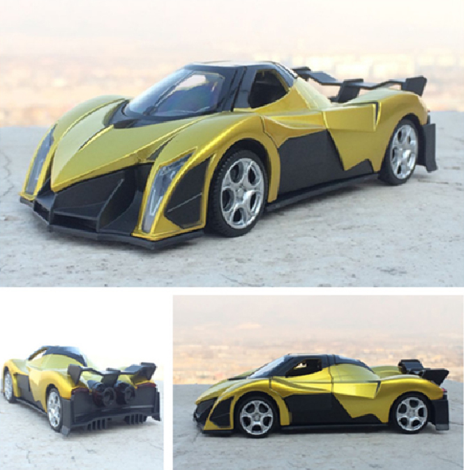 New Arrival 1:32 Kids Toys Devel Sixteen Concept Sports Car Model With Music Pull Back Car Miniatures Gifts For Boys Toys
