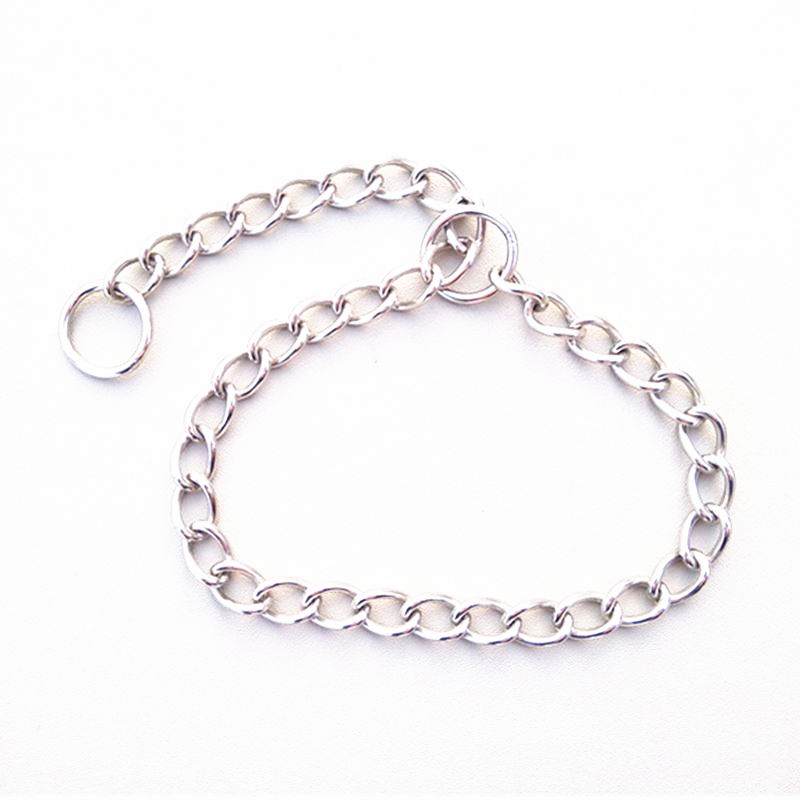 2pcs Per Pack Heavy Duty Dog Collar Chain Rings 660mm Length Strong Metal Pet Lead Cheap Horse Chain  Pet Pony Leading Chain