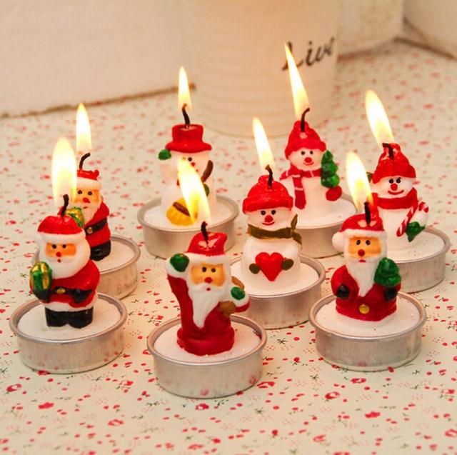 4pcs/lot Christmas decorations candlestick cute new year xmas decorations for home decoration gift box