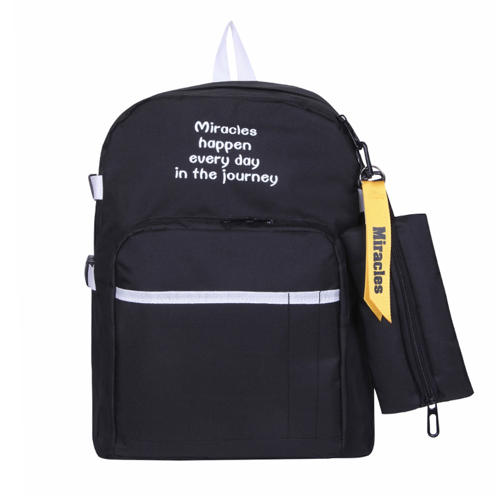 Ladies Backpack College Simple Student-Bag Wind Waterproof New Oxford Leisure And Multi-Layer