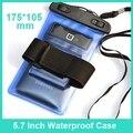 5.7 Polegada universal telemóvel PVC Sacos de telefone À Prova D' Água Bolsa de mergulho Natação case para samsung galaxy note 2 3 4 s3 s4 s5 s6