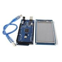 จัดส่งฟรี! 3.2นิ้วหน้าจอTFT LCDโมดูลอัลตร้าHD 320X480 + MEGA 2560 R3คณะกรรมการด้วยสายusb