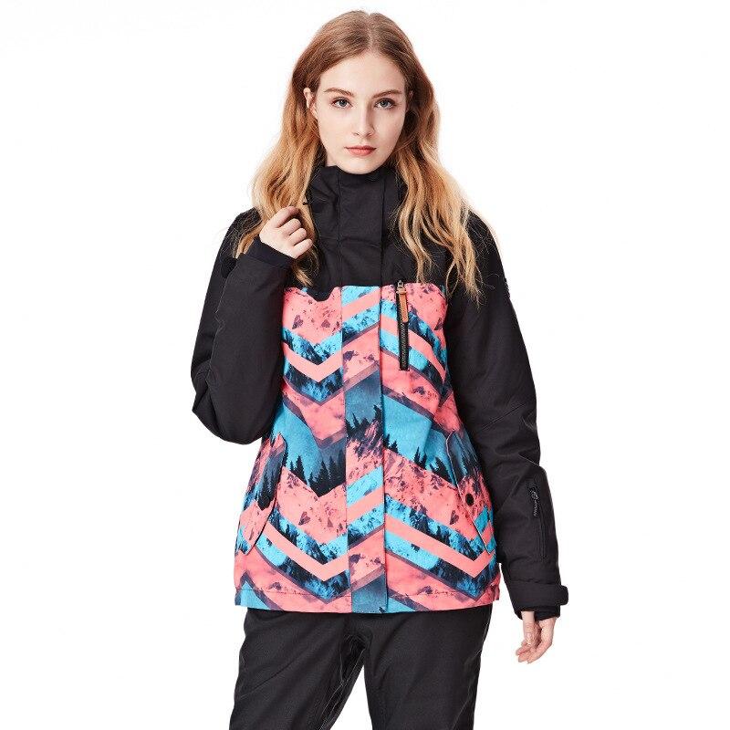 GSOUSNOW ski costume 2018 hiver nouveau style coupe-vent imperméable à l'eau en plein air chaud dame ski costume