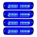 12В-24В синий 12LED автомобиль стробоскоп света грузовика боковой маркер индикатор лампы Универсальный 18 Вт