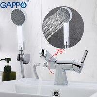 GAPPO Shower Faucet Waterfall Bath Tap Mixer Bath Tub Taps Rainfall Shower Set Deck Mounted Bathroom
