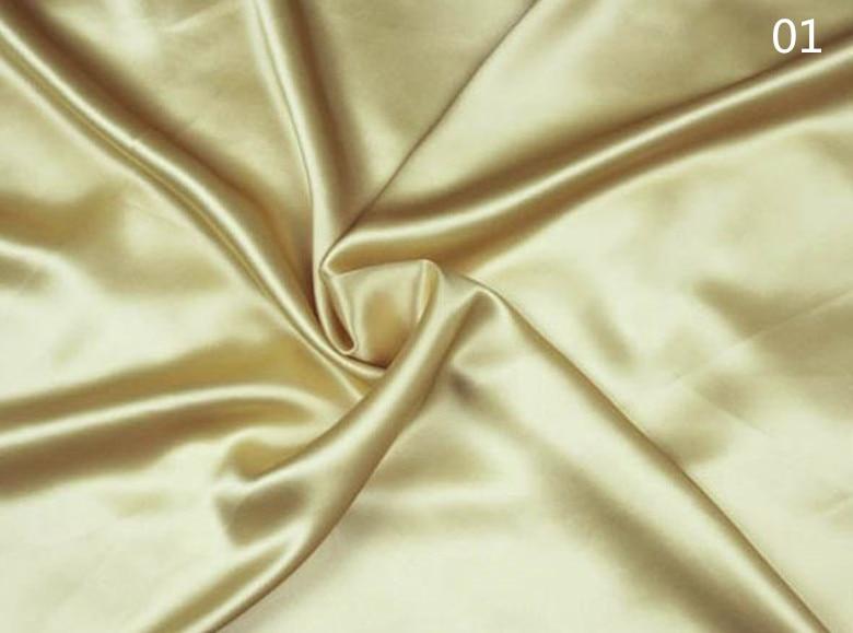 Largeur superbe de tissu de Satin de soie Pure de 19 mm 280 cm 110 pouces de largeur couleur argentée 81 gsm pour la literie 2 mètres pour l'essai d'échantillon