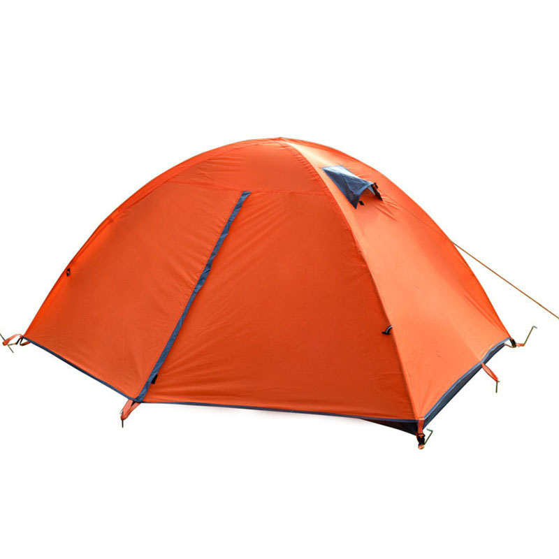 Double Layers 2 People Waterproof Outdoor Hiking Camping Tent Oxford Folding Anti-mosquito Sunscreen Beach Tent 150*200*110cm blue 2 person oxford camping tent outdoor double layers gazebo tourist tent folding beach tent for camping hiking fishing party