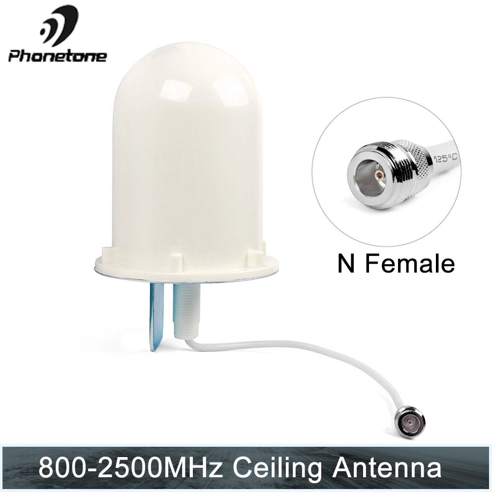 Outside Omni Tube Antenna Router 4G LTE 3G 800-2500MHz 6dBi N Female Connector For Cell Phone Signal Booster Repeater Amplifier