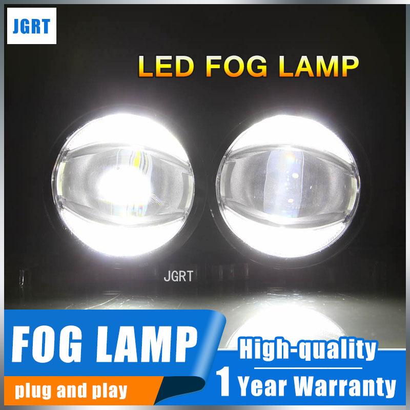 JGRT 2014-2016 For Honda Fit jazz fog lights+LED DRL+turn signal lights Car Styling LED Daytime Running Lights LED fog lamps