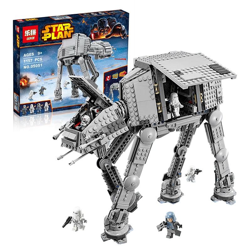 Lepin 05051 Star Series War legoingly Awaken The AT Mode 5054 Building Blocks Bricks Toyl AT Transportation Armored Robot 7 urban transportation sections at minus