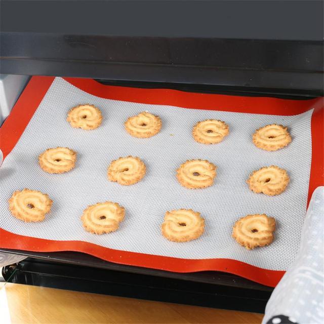 Food Grade Silicone Baking Mat Heat Resistance Macaroon Baking Bakeware Baking Tray Mat Pastry Cake Dough Pad Baking Pastry Tool