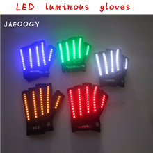 High quality LED gloves music festival performance luminous stage dancing singer DJ lighting props