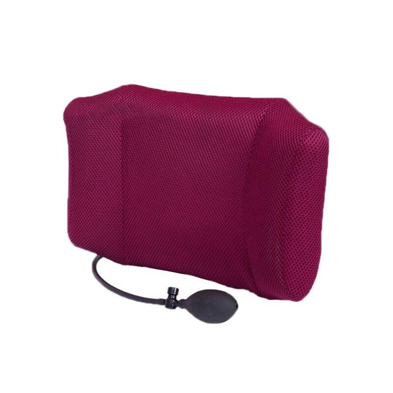 Car Seat Chair Back Massage Space Memory Foam Lumbar Support Waist Cushion Mesh Ventilate Cushion Pad Car Styling Accessories