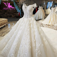 AIJINGYU Griekenland Jurk Huwelijk Dragen Toga Kwaliteit Moslim Mooie Witte Ballroom Gown Goedkope Designer Trouwjurken