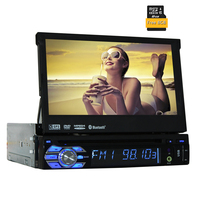 7 Inch Single 1 DIN WinCE DVD Player GPS Navigation Car Stereo Auto Audio FM AM