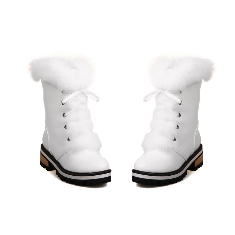 큰 크기 34-43 여성 부츠 라운드 발가락 달콤한 - 여성 신발 - 사진 5