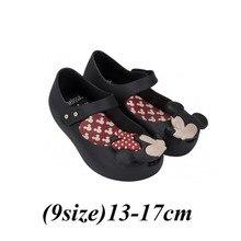 (26 Style) Mini Melissa Chaussures Enfants Sandales Arc Gelée Chaussures Sapato Infantil Menina Melissa Filles Chaussures Mickey & Minnie Sandales