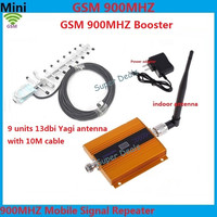 Full Set Mini LCD Display ! GSM 900Mhz Mobile Signal Repeater GSM Cellular Signal Booster , Cell Phone Amplifier + Yagi Antenna