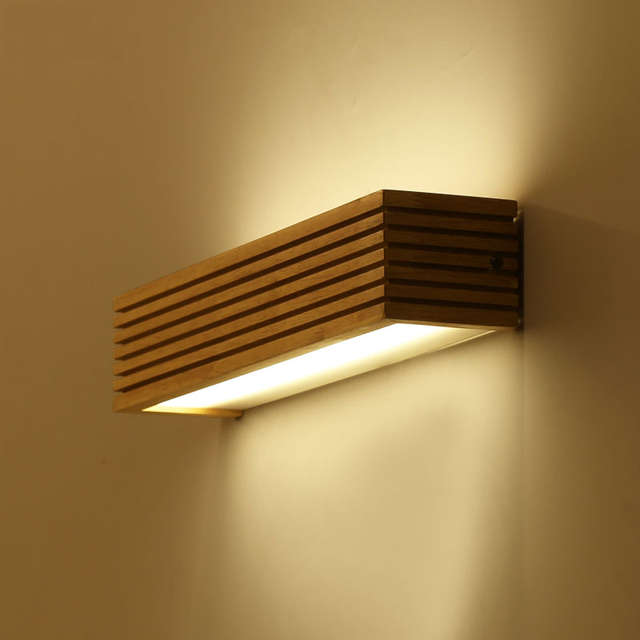 Kreative nordic schlafzimmer Nacht holz wand licht 12 Watt foyer ...