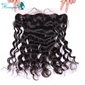 7A Loose Wave Lace Frontal Closure13x4 Full Frontal Lace Closure Brazilian Loose Curly Ear to Ear Lace Frontals With Baby Hair