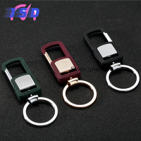 High Quality Car Styling Upscale Keychain Men Luxury Key Holder For Abarth Audi BMW Mercedes BENZ