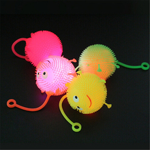 Toys Flash-Ball Led-Light-Up Glowing Elasticity Color-Random Baby Children Cartoon Hair