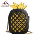 Design de estilo de personalidade oco abacaxi estilo cadeia de moda bolsa de ombro bolsa das senhoras bolsa mensageiro saco crossbody