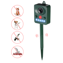 Solar Powered Ultrasonic Pest Animals Repeller Outdoor Animal Repellent  Repelling Dogs Birds Flashing LED Frequency недорого