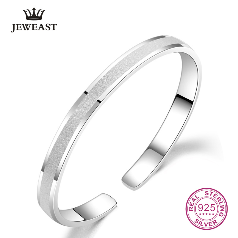 999 Sterling Silver Open Bangle Korea Hot Selling Frosted Women Classic Fine Bracelet Femme Simple Fashion Jewelry 2017 New 999 Sterling Silver Open Bangle Korea Hot Selling Frosted Women Classic Fine Bracelet Femme Simple Fashion Jewelry 2017 New