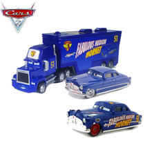 All Styles Disney Cars 2 Doc Hudson And Blue Mack Truck 1:55 Scale Diecast Metal Alloy Collection Cars For Children Gifts(China)