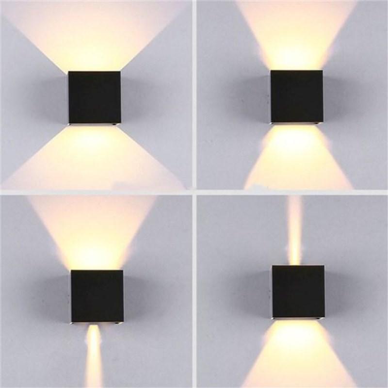 Lámpara LED de pared de 12W para exteriores, impermeable, IP65, para porche, jardín, lámpara de pared, aplique para balcón, terraza, decoración, lámpara de iluminación
