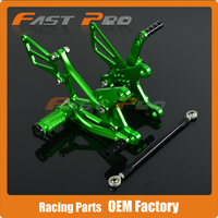 CNC Motorcycle Adjustable Billet Foot Pegs Pedals Rest For KAWASAKI ZX6R ZX 6R ZX 6R 2005